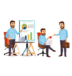 Boss working character working male vector