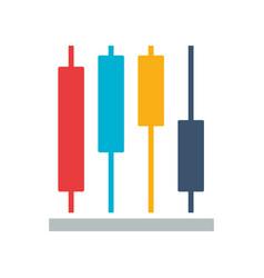 business report diagram vector image