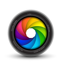 Camera shutter photography icon aperture focus vector