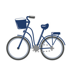 cartoon bicycle transport vector image