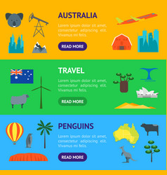 cartoon color australia discover concept travel vector image