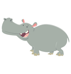 Cartoon hippopotamus animal character vector