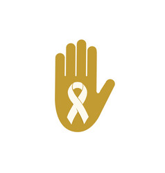 Childhood cancer day abstract ribbon sign vector