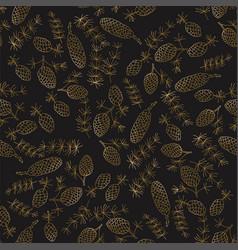 christmas botanical seamless pattern with fir vector image