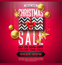 Christmas sale design with ornamental ball and vector