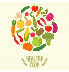 Circle from vegetables healthy food vector image