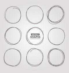 circle shapes abstract black forms for text vector image