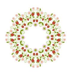 Circular ornament berries vector