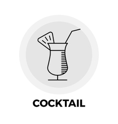 Cocktail Line Icon vector