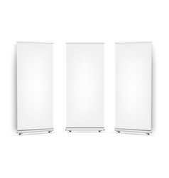 collection roll up banners set isolated white vector image