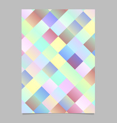 Colorful abstract gradient modern square brochure vector