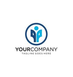 Creative people icon for logo design vector