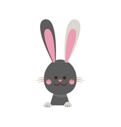 cute easter bunny happy adorable vector image