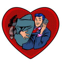 dear businessman in heart vector image