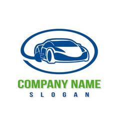 electric car logo vector image