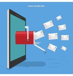 Email marketing flat concept vector image