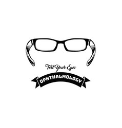 eyeglasses accessory glasses test your eye vector image