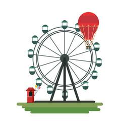 ferris wheel design vector image