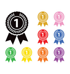 first place medal set vector image