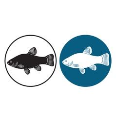Fish line vector