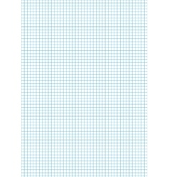 Five millimeters cyan grid on a4 vertical sheet vector image
