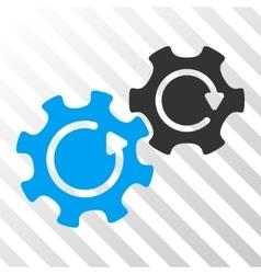 Gears Rotation Icon vector