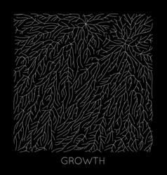 generative branch growth pattern lichen vector image