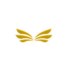 gold wings logo vector image