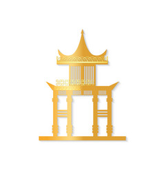 golden japan gate with decorated roof vector image