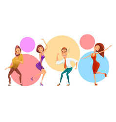 group of people on corporate party vector image