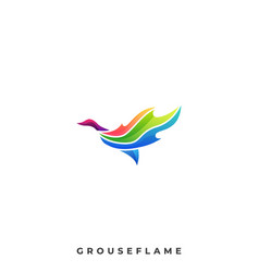 grouse flame template vector image