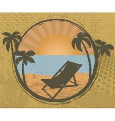 Grunge summer frame vector