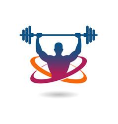 Gymnasium fitness logo vector