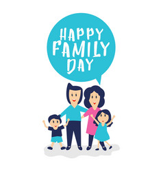 Happy family day template design vector
