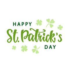 happy saint patricks day greeting poster vector image