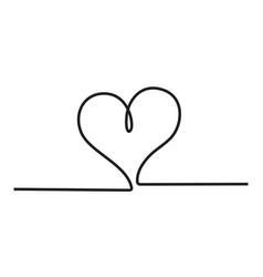 Heart icon stylish line art sign vector