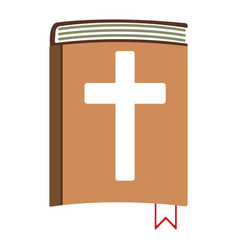 Holy bible cartoon icon isolated vector