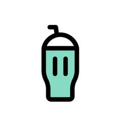 Ice cream milkshake sweets filled icon editable vector