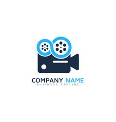 infinity video logo icon design vector image