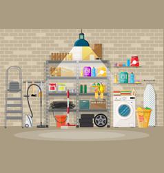 Interior modern storeroom vector