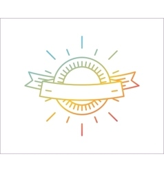 linear logo template Abstract arrow shape vector image