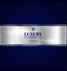 luxury invitation blue background with a pattern vector image