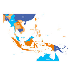 Map of southeast asia vector