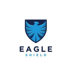 modern eagle shield logo icon template vector image