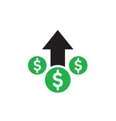 Money dollar up arrow growth finance graphic vector