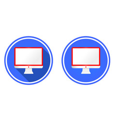 monitor screen flat icon vector image