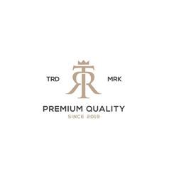 Monogram tr rt logo design inspiration vector