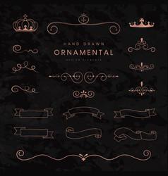 Ornamental ribbons and dividers vector