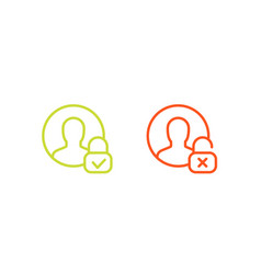 Parental control icons linear vector