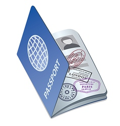 Passport with visa vector